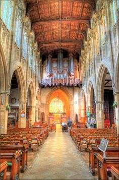 Check! The beautiful Holy Trinity Church, Stratford-upon-Avon, UK.  (Shakespeare's church)