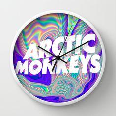 Psychedelic Arctic Monkeys Logo Wall Clock