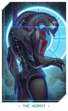 ME: Legion by Alteya, Mass Effect Fan Art, Digital Painting, Illustration, Sci Fi RPG, Illustration, Tarot Card, Inspirational Art