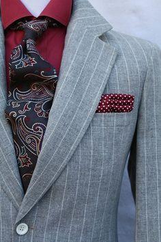 Mens Vintage 2 Piece Gray Chalk Stripe Suit from ViVifyVintage