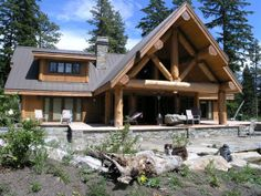 Rustic Log Cabin Photo Gallery | ... rustic cherry wood cabinets were supplied from our Design Center