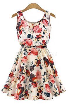 Ericdress Print Sleeveless Dress Casual Dresses