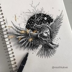 Visoth Kakvei, a Cambodia-born artist who resides in Maine, crafts intricate, illusion-filled drawings inside of his sketchbook.The artist sometimes digitally enhances these works, further pushing …