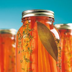 Conserves de carottes au miel et thym – Recettes – Cuisine et nutrition – Pratic… Canned carrots with honey and thyme – Recipes – Cooking and nutrition – Pratico Pratique Pickles, Kefir, Food Storage, Canned Carrots, Thyme Recipes, Antipasto, Cheese Salad, Stuffed Sweet Peppers, Canning Recipes