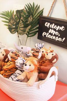 Wilder's First Birthday Party, Wilder's Jungle Birthday party, Jungle Birthday Favors, Wild Animal Favors, Wild First Birthday Favors, Safari Birthday Favors, Adopt a Wild Animal Favors
