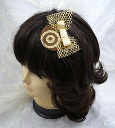 "eleganter mini Kopfschmuck, elegant mini Headpiece ""Goldrausch"" - ""gold rush"" (3) von KopfBisFuss auf Etsy"