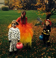 diy family halloween costumes dalmatian fire and fireman - Halloween Costume Fire