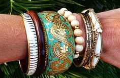 GroopDealz | Anthro Style Turquoise Stackable Bangle