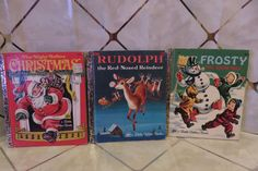 CHRISTMAS Lot Of 3 Little Golden Books Frosty, Rudolph & Night Before Christmas #LittleGoldenBooks