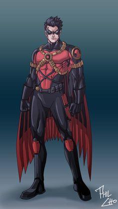 New Red Robin Costume- robin looking sick in his costume Batman Robin, Robin Dc, Batman Batman, Dc Comics Characters, Dc Comics Art, Marvel Dc Comics, Damian Wayne, Dc Heroes, Comic Book Heroes