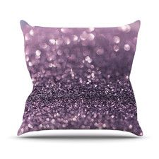 Sparkle by Debbra Obertanec Glitter Throw Pillow