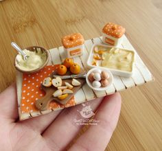 """Made to order. Miniature set of """"Cooking Apple pie"""" for dolls and doll houses…"""