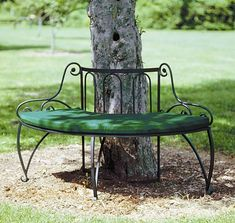 curved bench cushions outdoor - Curved Outdoor Bench And Their Features – Garden Design Bench Cushions Outdoor, Outdoor Garden Bench, Outdoor Decor, Garden Benches, Outdoor Benches, Garden Trees, Garden Art, Garden Design, Wrought Iron Bench