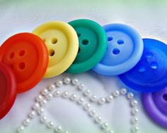 10 BIG BUTTON Soap Favors With Tags & Curly Ribbons  Cute