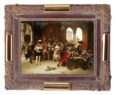 """""""Musketeers Of The King Giclee Print Poster by Adolphe Alexander Lesrel POSTERS-PRINT.COM"""" by posters-print ❤ liked on Polyvore featuring walldecor, artposter, FineArtPrint and wallposter"""