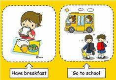 Classroom Schedule, Classroom Language, Comics, School, Routine, Nap, House, Color, Kids Math