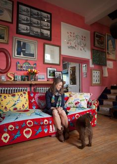 Caro & Josh's Colorful & Quirky English Home — House Tour from apartmenttherapy.com What I love: that this is real family life, a real family house with papers and emotion and love evident everywhere. I am so tired of interiors that are white-white-white with not a book or colorful personal item in sight.