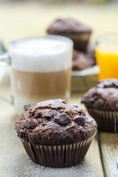 čokoládovo banánové muffiny