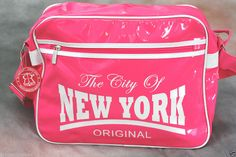 Robin Ruth USA Pink & White New York City Shoulder City Messenger Bag #ROBINRUTH #MessengerShoulderBag