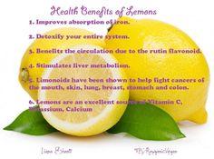 The benefits of lemons!
