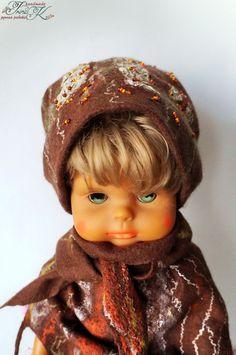 Купить Валяная женская шапка бини Шоколад - абстрактный, валяные варежки, подарок