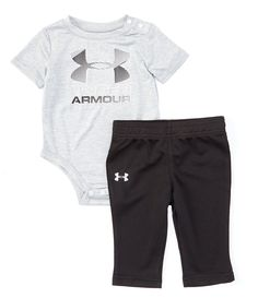 Baby Boy/'s Infant Under Armour Heat-Gear 2 Piece Shirt Shorts Set