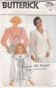 romantic blouse sewing pattern | Romantic Blouse Pattern 80s Sewing Pattern Oversize Blouse with Puff ...