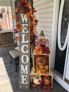 Thanksgiving Decorations, Seasonal Decor, Fall Decorations, Halloween Decorations, Holiday Decor, Fall Crafts, Decor Crafts, Porch Decorating, Decorating Ideas
