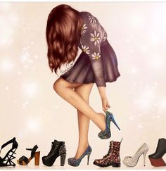 Kristina Webb's art is soo perfect!! <3 Her outfir, hair, and shoes. --Kenzie Leigh                                                                                                                                                                                 Mais
