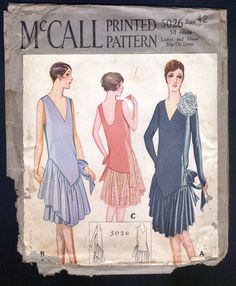 McCall 1920's Ladies Evening or Party Dress RARE Large Size | eBay
