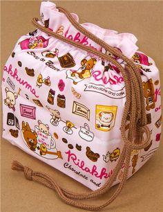 Rilakkuma bento pouch bag chocolate & coffee