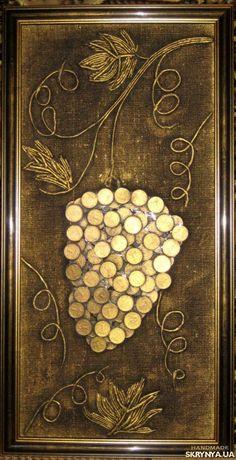 Панно. Панно из монет Виноградная гроздь купить Украина — SKRYNYA.UA
