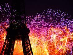 fireworks in paris♥