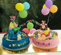 Cake design: torta di compleanno con sculture in pasta di zucchero