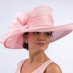 Pink Sinamay church hat Sinamay Hats, Fascinator Hats, Fascinators, Kentucky Derby Outfit, Kentucky Derby Fashion, Derby Outfits, Outfits With Hats, British Hats, Funky Hats
