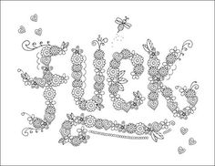 F Adult Swear Words Coloring Page Free Download From John T