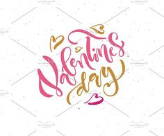 Happy Valentine's Day Lettering. Be My Valentine