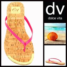 """❗️1-HOUR SALE❗️DV Dolce Vita SANDALS Flip Flops DV Dolce Vita Flip Flops Flat Sandals NEW WITH TAGS $45   * Thong toe strap   * Printed logo & cork print footbed  * Slim jelly style straps & 0.5"""" ballet flat heels  * Metallic gold hardware accents   * Open toe & slip on style.  * True to size Material: Manmade upper & rubber sole Color: Pink Punch combo Item:92500  No Trades ✅ Offers Considered*✅ *Please use the blue 'offer' button to submit an offer Dolce Vita Shoes Sandals"""