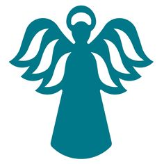 Use this classic angel design to create holiday and religious bliss. Use for cards, table toppers, place holders, ornaments and holiday or religious displays. Fabric Christmas Ornaments, Christmas Crafts, Christmas Decorations, Wood Carving Patterns, Stencil Patterns, Angel Wings Clip Art, Pottery Angels, Quilting Stencils, Christmas Templates