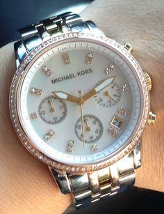 Micheal Kors watch.. 3 tone. :)