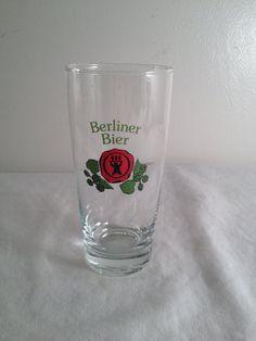 Berliner Bier beer glass 5.5in by ugliducklings on Etsy