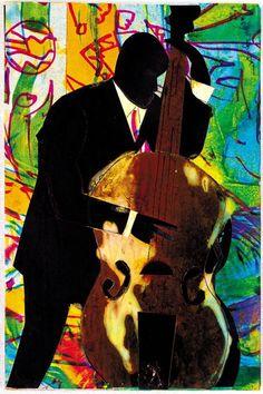 ♪ The Musical Arts ♪ music musician paintings - Romare Beardon