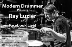 We are very excited to announce a FB Live event with @korn_official drummer @rayluzierkorn! Next Wednesday at 3pm EST Ray will be giving us an exclusive tour of his studio performing live telling stories and answering questions from you all. Be sure to follow us on FB and help spread the word!