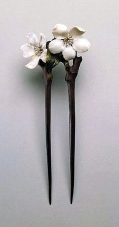 "ollebosse: "" Hairpin ""Flowers of apple"" by Lucien Gaillard, 1902 """