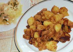 Brassói aprópecsenye Croatian Recipes, Hungarian Recipes, Hungarian Food, Firecracker Shrimp, Main Dishes, Side Dishes, Pork Dishes, Nom Nom, Seafood