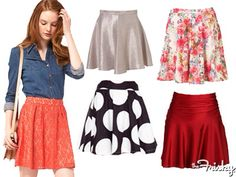 Love the polkadots and the orange ones the most! Totally cute! Love skater skirts