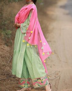 *A girl should be two things: CLASSY and FABULOUS* pc dress* Cotton kurti with lining with gota work Bottom fabric rayon with malmal printed dupatta Kurti length:- inches Plazo length:- *Size:- *Dispatch date:- h sep* MRP # Punjabi Salwar Suits, Patiala Salwar, Anarkali, Sharara, Salwar Designs, Kurta Designs Women, Kurti Designs Party Wear, Simple Pakistani Dresses, Pakistani Dress Design