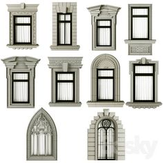 Classic frame window Classic frame window model m. Classic House Exterior, Classic House Design, House Front Design, Dream House Exterior, Bungalow House Design, Neoclassical Architecture, Classic Architecture, Architecture Design, Villa Design