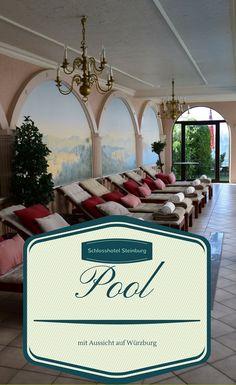 Pool mit Aussicht im Schlosshotel Steinburg in Würzburg