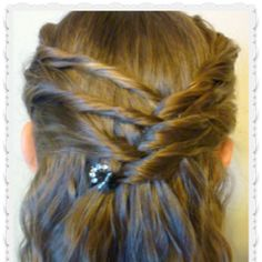 Criss Cross Twists - Half Up Hairstyle